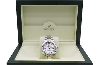 $ CDN12537.74 • Buy Rolex Explorer II White Dial Stainless Steel Automatic Mens Watch Box And Papers