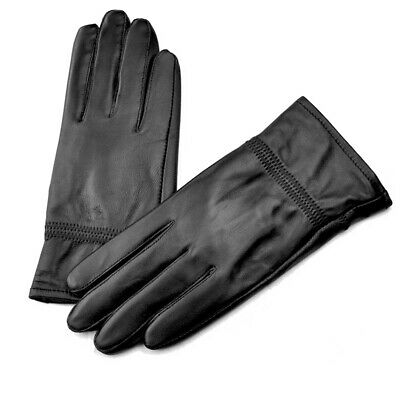 $4.99 • Buy Men's Black Leather Winter Warm Driving Gloves Outdoor Cold Gloves