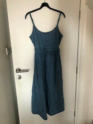 £1.80 • Buy ASOS Size 10 Dress Denim Buttons Strappy