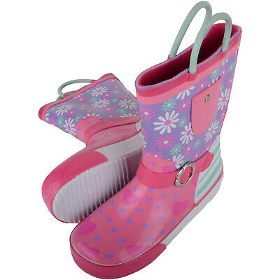 £0.99 • Buy Childrens / Kids / Girls Wellington Rain Boots / Wellies And Floral Design UK 9