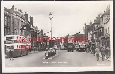 £6 • Buy Kent - ASHFORD, High Street With Vintage Motor Bus No.121 ? - Frith's Real Photo