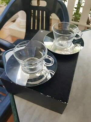 £9.95 • Buy Nespresso View Collection Cappuccino Cups & Saucers