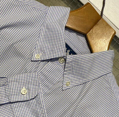 £0.99 • Buy RALPH LAUREN(blake)SHIRT(L)BLUE AND WHITE GINGHAM IN 100% COTTON,con't..⏩⏩