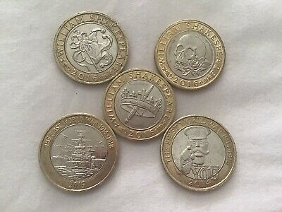 £16 • Buy £2 Two Pound  Commemorative Coins Job Lot X 5.