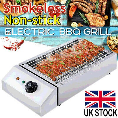 £32.98 • Buy 2800W Electric Grill BBQ Barbecue Countertop Camping Cooking Indoor Outdoor UK
