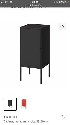 £40 • Buy Ikea LIXHULT X2 Cabinet Cupboard,Home Office Storage Living,Metal, 35x60cm
