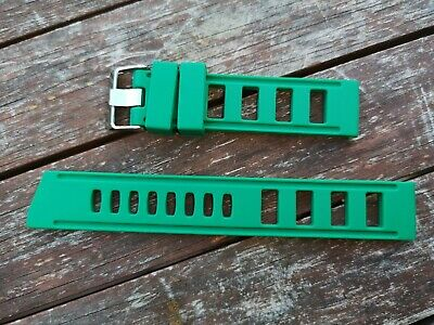£6.49 • Buy ++ Silicone Iso-style Ladder Divers Watch Straps 20mm Emerald Green ++