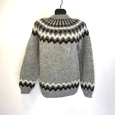 $95.99 • Buy Hand Knitting Association Of Iceland Wool Sweater Mens Large Fair Isle Pullover