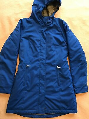 £57.68 • Buy North Face TNF Insulated Parka Jacket Coat Womens Size M BLUE Hood Excellent
