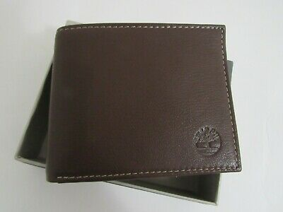 $15.99 • Buy NWT Timberland Brown Color Leather Bifold Bifold Wallet