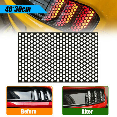 $6.13 • Buy Car Tail Light Rear Lamp Frame Trim Cover Sticker Honeycomb Decal Decoration