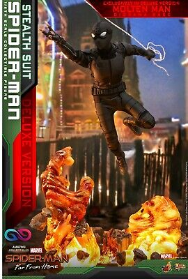 $ CDN209.44 • Buy Hot Toys - Spiderman - Stealth Suit - DX Version- Spiderman: Far From Home