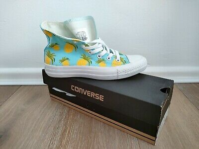 £17.50 • Buy Converse High Tops Pineapple 🍍BNWB Size 4