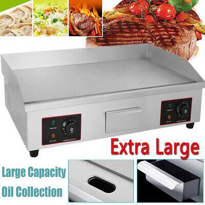 £175.98 • Buy 4400W Commercial Electric Griddle Hotplate Flat Grill Hot Plate Large Countertop