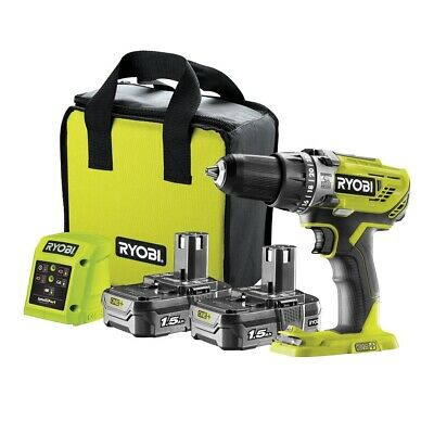 £104.99 • Buy Ryobi R18PD3-215SK 18v ONE+ Cordless Percussion Combi Drill With 2 Batteries