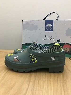 £29.99 • Buy Joules Womens Pop On Welly Clog, Green Birds, Size 3