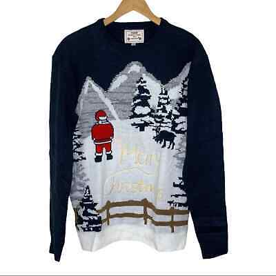 $20 • Buy Ugly Christmas Sweater Peeing Santa Pullover New Men's Small NWT