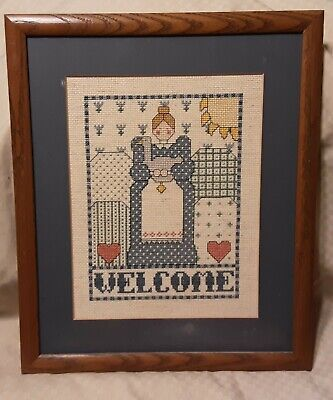 £7.21 • Buy Framed Finished Cross Stitch Welcome, 12  By 14