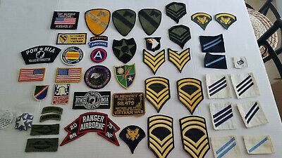 $9.99 • Buy Lot Of Assorted Vintage Military Sew On Patches Army & Navy