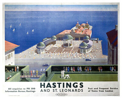 £3.95 • Buy Vintage Hastings And St Leonards - Seaside Railway Travel Poster A1/A2/A3/A4