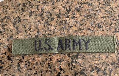 $0.99 • Buy Military Patch Us Army Name Tape Tag Sew On Od Green Subdued New