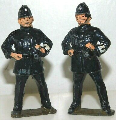 £14.38 • Buy Old JOHILLCO England Lead 1950s, Village Series, 2 Bobbies Or Policemen, 60mm