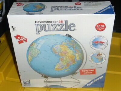 $39.99 • Buy Ravensburger 3D Puzzle 540 Pieces + Display Stand World Globe Cool Looking New