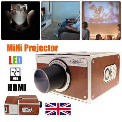 £8.49 • Buy V2.0 Smartphone DIY Projector Portable Home Wall Cinema TV Screen For IPhone New