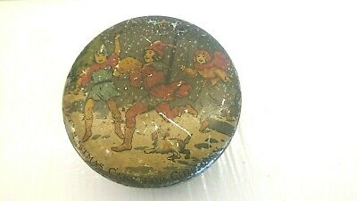 £5 • Buy Vintage Tin  From Jacobs Biscuits. 9.5cm Round. Christmas Cake For Children.