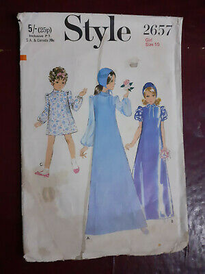 £3 • Buy Vintage  Style 1960's Sewing Pattern 2657 Bridesmaid Dress Girl Size 10