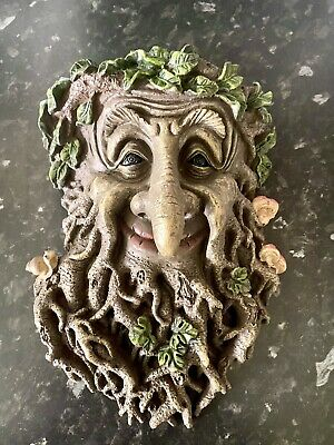 £16.99 • Buy Rubber Latex Mould Large Green Man Garden Fence Wall Decoration Concrete Pl