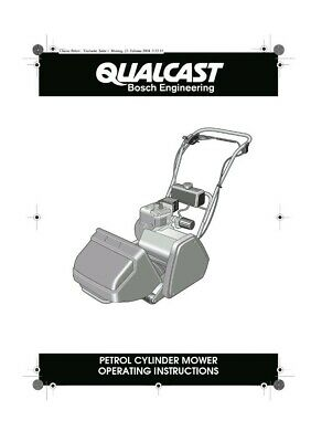 £2.99 • Buy Qualcast Classic 35s Petrol Cylinder Mower And Scarifier Instructions Manual 43s