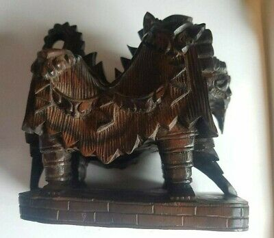 £24.99 • Buy Carved Sculpture Wooden Figurine Foo Lion Dog Asian Chinese Japanese Oriental