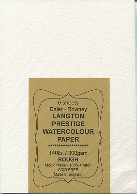 £4.95 • Buy A Pack Of 6 Sheets   Daler-Rowney  LANGTON  WATERCOLOUR  PAPER   ( Half Price )