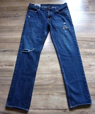$13.99 • Buy HOLLISTER CALIFORNIA Men's Distressed Straight Leg Jeans Button Fly 33X32