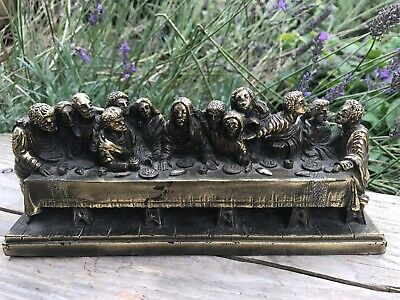 £19.99 • Buy Vintage The Last Supper By A Giannetti Plaster And Gilt.