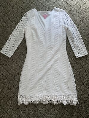 $22.50 • Buy Lilly Pulitzer White Seminole Night Out Dress Small