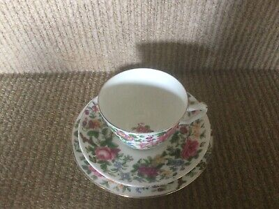 £3.60 • Buy Vintage Crown Staffordshire Fine Bone Floral China Trio Tea Cup Saucer And Plate