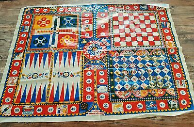 £32.34 • Buy Vtg 70s MOD CLOTHKITS Games Tablecloth England Coated Canvas Wall Hanging