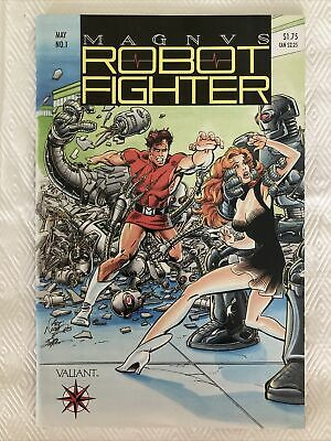 $8.99 • Buy MAGNUS ROBOT FIGHTER #1 With Intact Coupons & Cards ~ Valiant Comics 1991