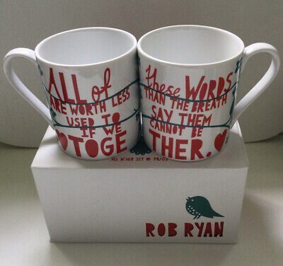 £27 • Buy Rob Ryan His N Hers Mugs - New In Box - Excellent Condition