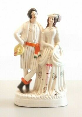 £14.20 • Buy A Fine Large Antique Stafforshire Figure Of A Lady And Gentleman