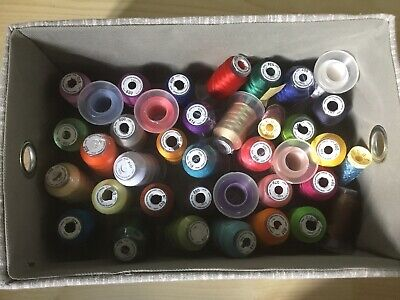 $18.76 • Buy 37 Embroidery Machine Theads Mostly New