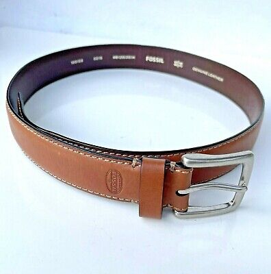 $24.99 • Buy FOSSIL Men's Light Brown Genuine Leather Work Dress Casual Stitch Belt Size 34