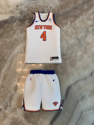 $35 • Buy Custom Made 1/6 Action Figure Derrick Rose New York #4 White Jersey Fit Enterbay