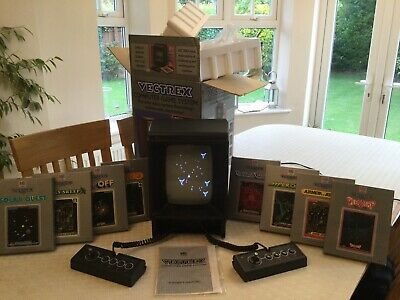 £750 • Buy Mb Vectrex With 8 Boxed Games Plus Two Controllers .excellent Condition.