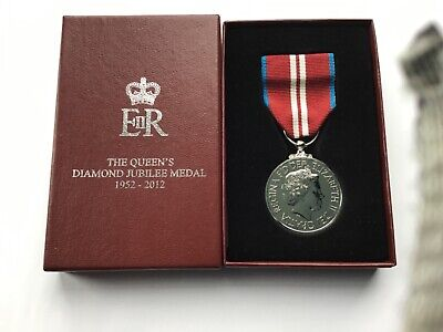 £67 • Buy Queen's Diamond Jubilee Medal Full Size 1952-2012, As Issued With Box