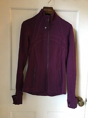 $ CDN45.14 • Buy Lululemon Athletica Womens Purple Athletic Zip Up Fitted Jacket, Size 4