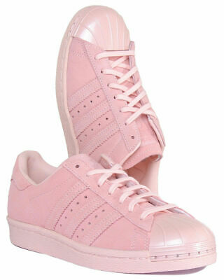 AU55 • Buy Adidas Superstar Metal Toe Womens Suede Leather Pink Trainers - Size 7US