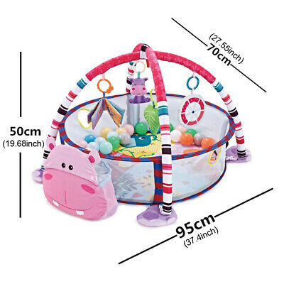 £106.14 • Buy Baby Play Mat With Hanging Toys Kids Activity Infant Fitness Crawling Blanket
